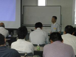 労働安全の講習を開催している様子